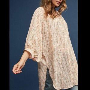 Maeve Anthropologie Lena Yarn-Dyed Tunic Blouse